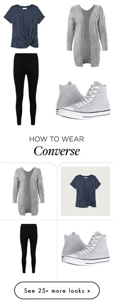 """Outfit 1108"" by that-girl-j on Polyvore featuring Abercrombie & Fitch, Boohoo, Sans Souci and Converse"