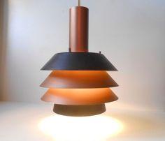 1960s Lyfa pendant ceiling lamp mid century Fog Morup, Hammerborg Carl Thore era #MidCenturyModern #Lyfa: http://www.ebay.com/itm/-/262681089412?