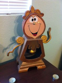 Beauty and the Beast Cogsworth Clock by Genoarceowoodwork on Etsy, $200.00