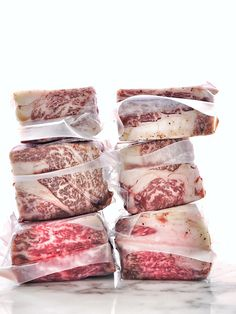 wagyu vacuum packed for sous-vide