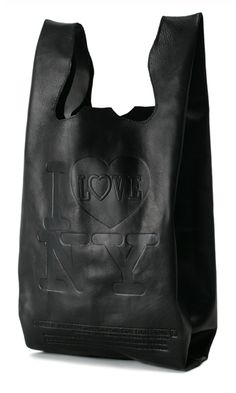 classic plastic shopping bag made of leather