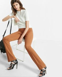 Cut for a sleek, slimming effect, our Columnist delivers office style that will carry you into the night. Front and back pockets with standout welt accents compliment the expert tailoring on display from the fitted hip to the barely boot leg opening.