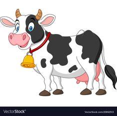 Cartoon happy cow vector image on VectorStock Cow Cartoon Images, Cartoon Cow, Happy Cartoon, Cartoon Drawings, Animal Drawings, Cute Cartoon, Cute Baby Cow, Baby Cows, Cute Cows