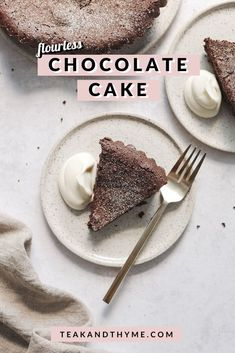 A simple, rich, and fudgey flourless chocolate cake that will make you forget about the flour #chocolate #chocolatecake #flourless #glutenfree   teakandthyme.com Flourless Chocolate Cakes, Gluten Free Chocolate, Chocolate Desserts, Melting Chocolate, Cocoa, Pudding, Cupcake Cakes, Cupcakes, Glutenfree