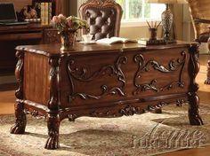 Dresden Cherry Oak Wood Office Desk 12169