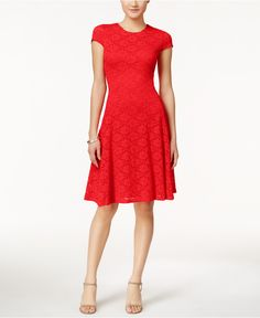 5796b8d0 Alfani Lace Fit & Flare Dress, Created for Macy's & Reviews - Dresses -  Women - Macy's