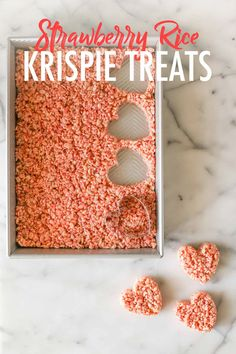 These Strawberry Rice Krispie Treats are delicious! The strawberry flavor comes through so well, and the color is perfect for Valentine's Day! #ricekrispietreats #strawberry #pink #dessert #valentinesdaytreat Rice Krispy Treats Recipe, Rice Krispie Treats, Rice Krispies, Valentines Day Love Quotes, Valentines Sweets, Preschool Valentine Crafts, Valentines Day Activities, Yummy Snacks, Yummy Treats