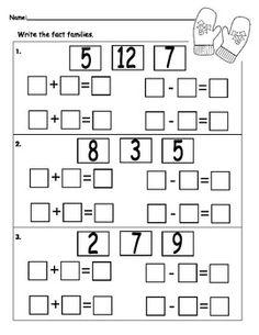 First Grade Math: Fact Families on Pinterest | Addition ...