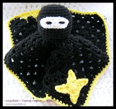 LoopyKidz ~ Custom Crochet ... & More!: { Ninja Lovey ~ FREE PATTERN }