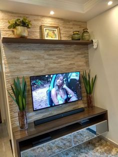 Amazing Modern TV Wall Decor Idea for Living Room Design Look Luxury - If you don& find out how to decorate the wall supporting the bed, and you feel a perplexed in - Living Room Modern, Home Living Room, Living Room Decor, Living Room Tv Unit Designs, Tv Wall Decor, Entryway Decor, Home Interior Design, Luxury Interior, House Design