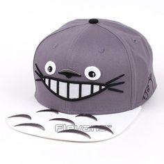 My Neighbor Totoro Grey And White Streetwear Baseball Hat Cap  My  Neighbor   Totoro 371ec479f88