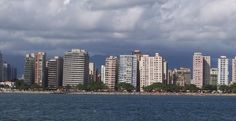 The coastline along the city of Santos, some 80 km from Sao Paulo, in Brazil, offers a strange sight. Like dominoes about to topple, the waterfront is lined by a string of high rise apartments that are unmistakably tilted to one side.
