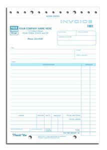 """Copy Of Invoices Sales And Service Invoice Forms Item No307 Size 5 23"""" X 8 12 ."""