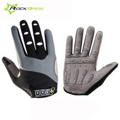 Rockbros Cycling Gloves Long Finger Reflective Touch Screen Mountain MTB Road Bike Bicycle Gloves Mittens Spring Autumn Ciclismo
