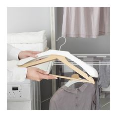 BUMERANG Shoulder shaper for hanger, white (IKEA)- to protect delicates/fine skit sweaters and keep their shape- put them over their Bumerang hangers