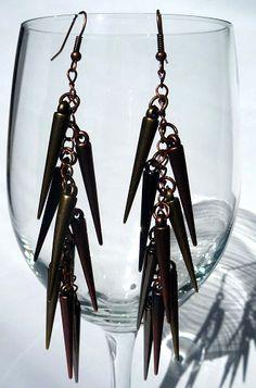 Spiky Earrings by 3rdDensityCreations on Etsy, $12.00