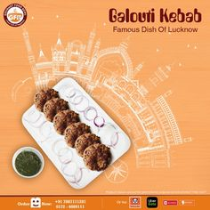 One of the famous dish from Lucknow prepared with authentic spices. Only at your favourite outlet Order Now! Cafe Menu Design, Food Menu Design, Food Poster Design, Design Posters, Food Graphic Design, Ad Design, Design Trends, Print Design, Ads Creative