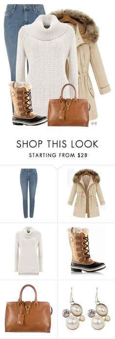 """""""Introducing the 2015 Winter Collection from SOREL: Contest Entry"""" by sherbear1974 ❤ liked on Polyvore featuring Topshop, Mint Velvet, SOREL and Yves Saint Laurent"""