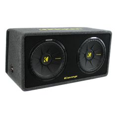 This loaded subwoofer enclosure features a max power of 1200 watts and a RMS power of 600 watts. Equipped with proven box construction and an impressive bold look, the dual enclosure offer a pair of CompS woofers in a stout MDF box with rounded corners and internal bracing for additional strength and support.