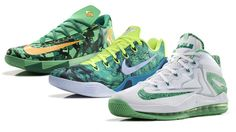 The 2014 Nike Basketball Easter Collection KD VI, KOBE 9 EM and LEBRON 1...