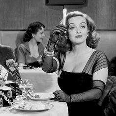 Eat it with conviction. Celery! Bette Davis in All About Eve, 1950 #MrBowerbird