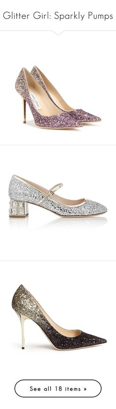 """""""Glitter Girl: Sparkly Pumps"""" by polyvore-editorial ❤ liked on Polyvore featuring sparklypumps, shoes, pumps, heels, purple, purple glitter shoes, purple pumps, glitter shoes, purple shoes and ombre shoes"""