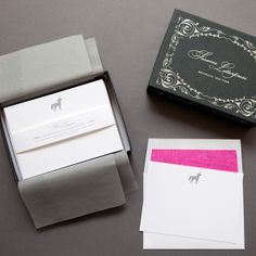 Letterpress Unicorn Deluxe Stationery Set / Sesame Letterpress Store