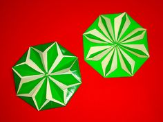 Origami flower!  DIY paper coaster. Hexagonal coaster origami! Christmas...