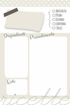 Binder Organization, Desktop Organization, Printable Recipe Cards, Printable Planner, Bullet Journal Binder, Agenda Planning, Home Binder, Planner Pages, Lettering