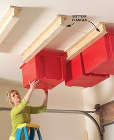Create a Sliding Storage System On the Garage Ceiling - Step by Step: The Family Handyman
