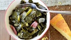 Southern Collard Greens, switching the ham out for smocked turkey or turkey ham