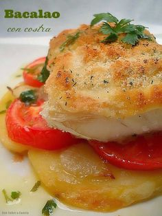 Con sabor a canela: Bacalao con costra Fish Recipes, Low Carb Recipes, Healthy Recipes, Cod Fish, Keto Meal Plan, Recipe For 4, Meal Planner, Food To Make, Seafood