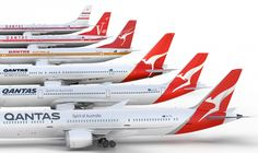 New Logo, Identity, and Livery for Qantas by Houston Group