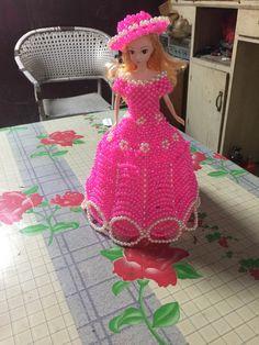 DIY手工串珠芭比娃娃材料包芭比小公主 成品 送視頻教程包郵