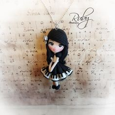 Polymer clay Alice in Wonderland pendant by Ruby-creations on ...