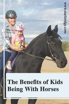 As parents we are always worrying about what we are or are not teaching our kids. I was raised with horses and I've lost track of the number of things I learned from them. Exposing your children to horses at a young age gives them an opportunity to learn responsibility, work ethic, compassion and so much more!
