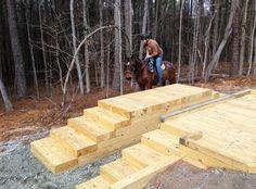 photo of small trail building bulldozer