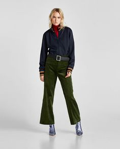 ZARA - WOMAN - THICK CORDUROY TROUSERS