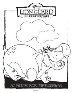 Free Disney Lion Guard Beshte Coloring Page Find This Pin And More On Joshs 2nd Birthday