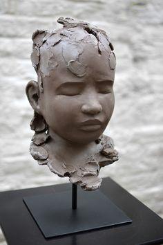 Confrontation Head Planters, Garden Planters, Sculptures, Clay, Statue, Amazing, Art, Sculpey Clay, Sculpture Ideas