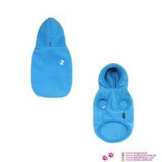 Chaqueta Polar para Perros Pequeños en Azul - Chaqueta Polar para perros pequeños, muy sencillas y muy prácticas; se puede usar tanto dentro de la casa cuando la temperatura es baja, y al exterior