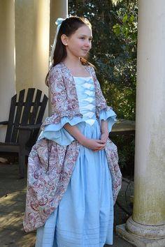 Girls Colonial Dress by EmilyandIzzy on Etsy