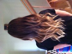 My gurls ombré hair. Curly hair, awesome, fashion, in style