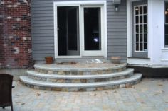 Round front steps