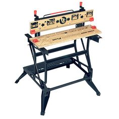 Black and Decker Workmate Deluxe Workbench for sale online Woodworking Pipe Clamps, Woodworking Tool Cabinet, Woodworking Hand Tools, Woodworking Supplies, Woodworking Classes, Woodworking Plans, Wood Furniture, Outdoor Furniture, Outdoor Decor