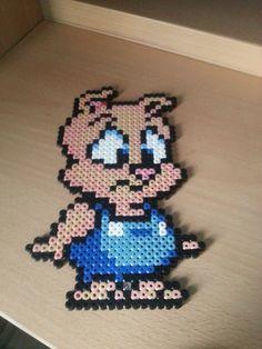 Hama Beads ~ Tiny Toons~Hampton J. Pig by TheBestHamaCreatings on deviantart
