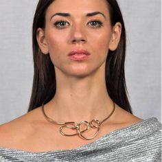 Κολιέ χρυσό μεταλικό Stainless Steel Necklace, Chokers, Hoop Earrings, Chain, Jewelry, Fashion, Moda, Jewlery, Jewerly