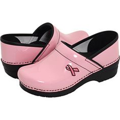 They say these are the most comfortable shoes to work in... I wouldn't mind having these pink ones.. :)