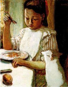 Пьер Боннар. Девочка с котом. 1906