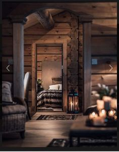 Log Home Decorating Gorgeous to breath taking ideas to produce that super amazing rustic area. log home decor ideas styling example id generated on 20190127 Cabins In The Woods, House In The Woods, Log Home Decorating, Decorating Blogs, Cabin Interiors, Log Cabin Homes, Log Cabins, Mountain Cabins, Cabins And Cottages